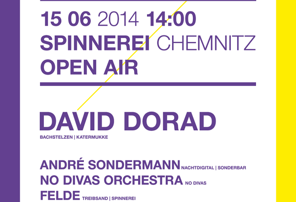 15.06.2014 - DAS FEST Open Air mit David Dorad – Spinnerei, Chemnitz