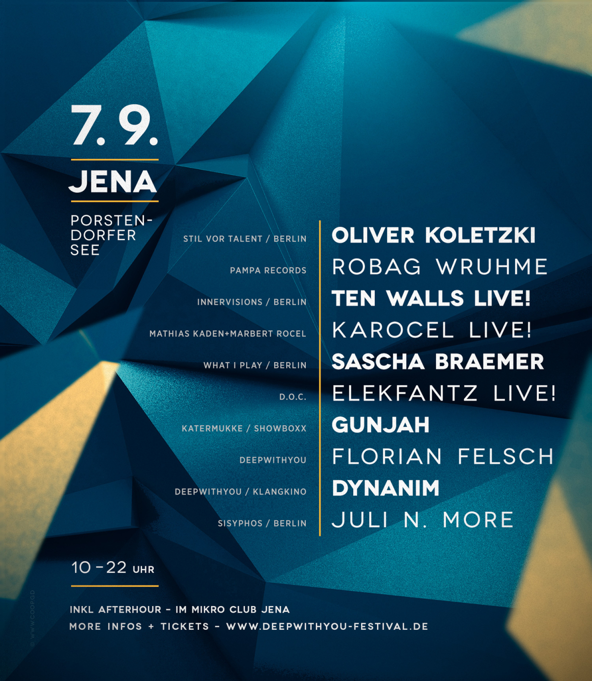 07.09.2014 – deep with you festival – Porstendorfer See, Jena