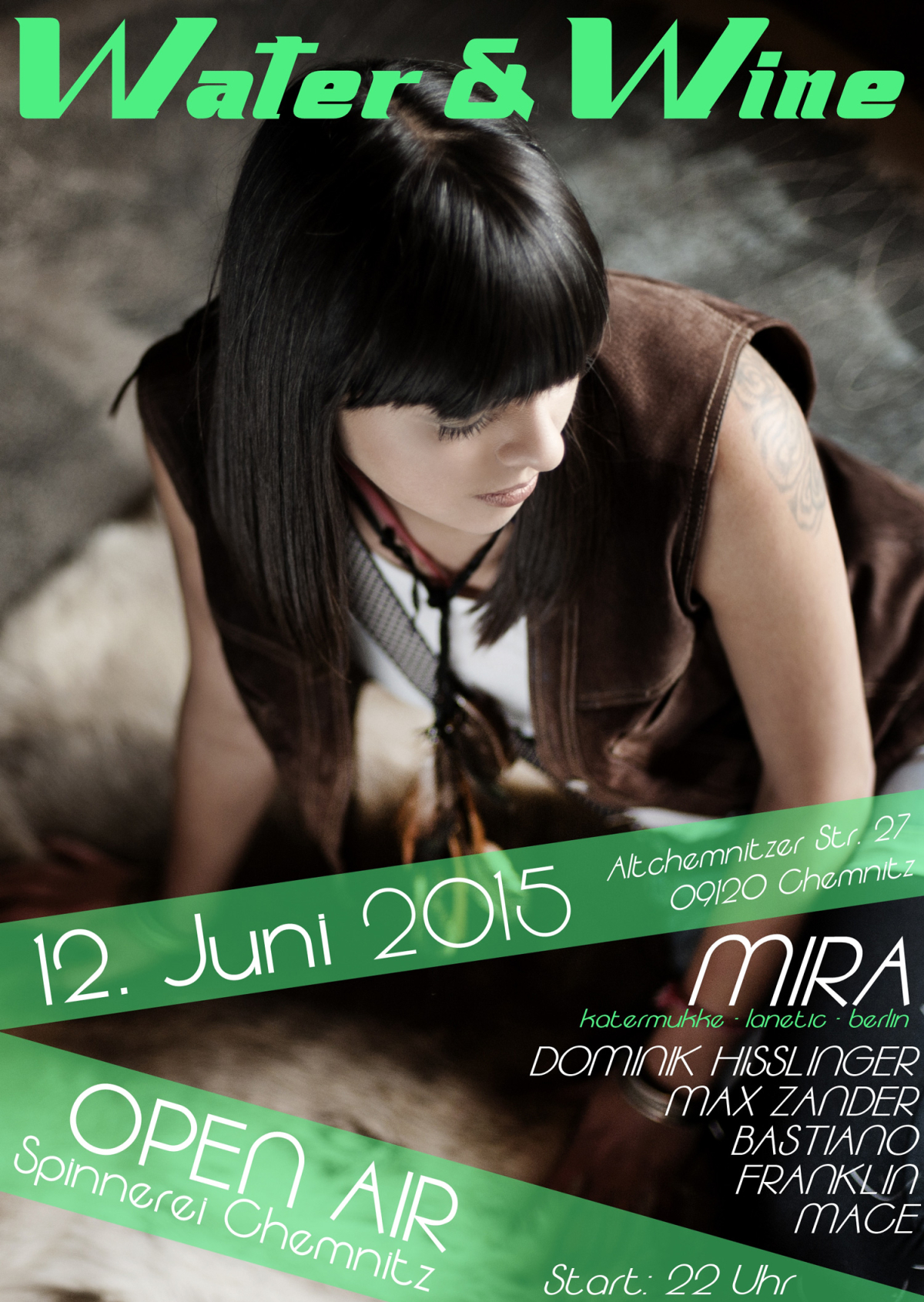 12.06.2015 – Water & Wine Open Air mit Mira – Spinnerei, Chemnitz