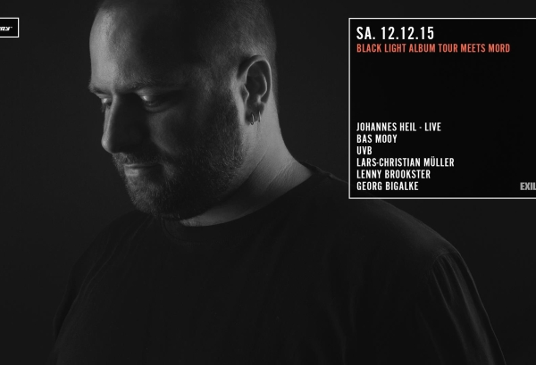 12.12.2015 – THE BLACK LIGHT ALBUM TOUR mit Johannes Heil – Distillery, Leipzig