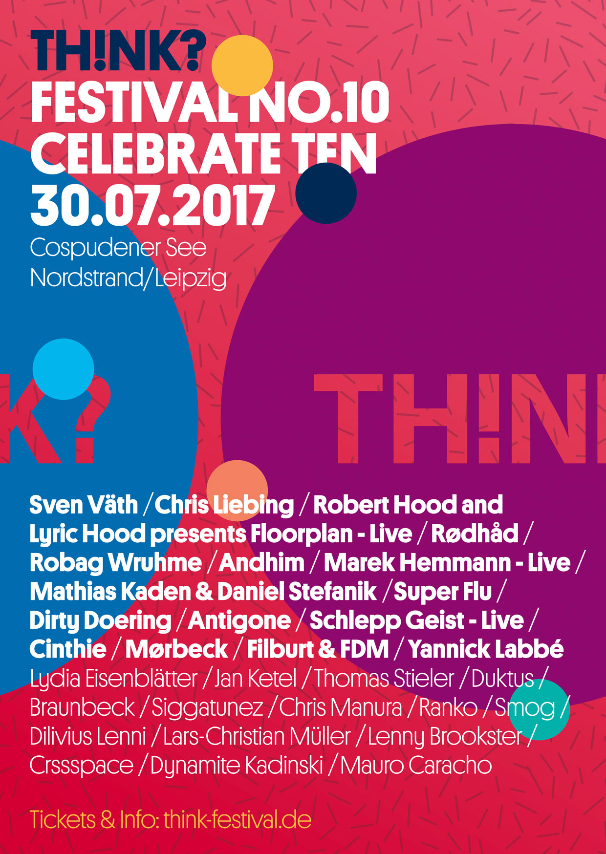 30.07.2017 - TH!NK? Open Air 2017 - Cospudener See, Leipzig
